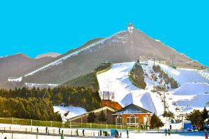 南山滑雪场:木屋建筑别致/停车场硕大