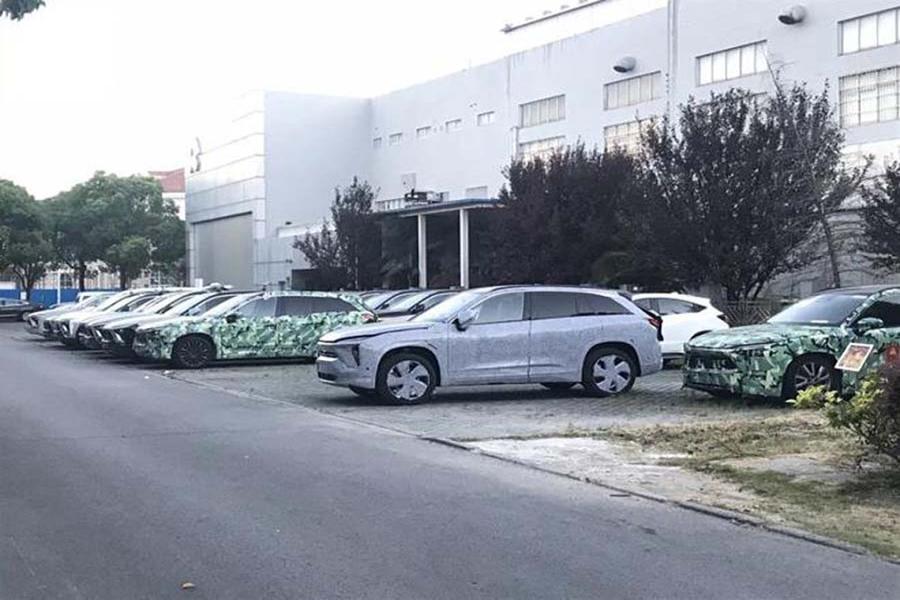 全新5座纯电动SUV 蔚来ES6实车近日曝光